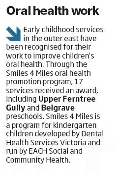 Free Press Leader - Oral health work - HP -  230316
