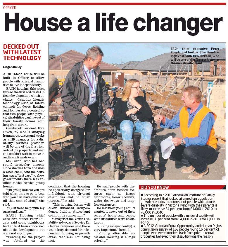 Berwick Leader - House a life changer - Housing 300516 V1